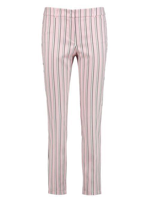 Taifun Pink Slim Peg Leg Stripe Trousers 320038 17111 / 3012