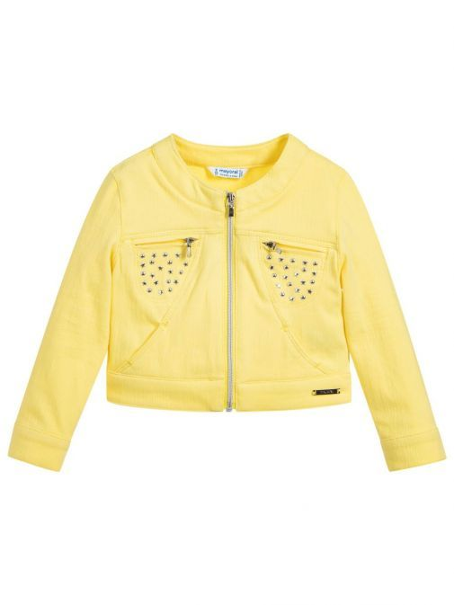 Mayoral Yellow Studded Jacket 3414 50