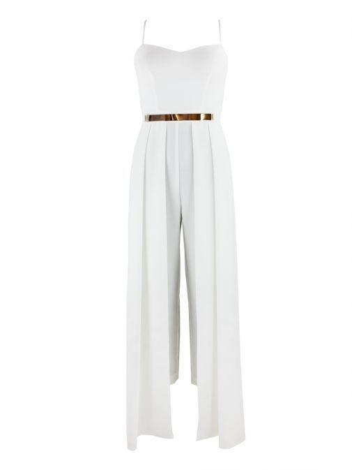 Alba Conde White Strappy Jumpsuit 3452/11