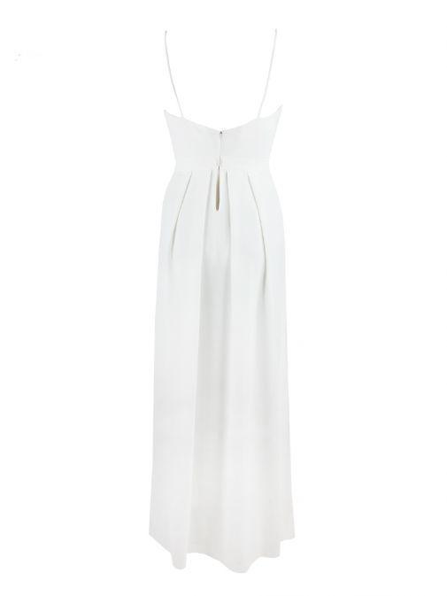 Alba Conde White Strappy Jumpsuit