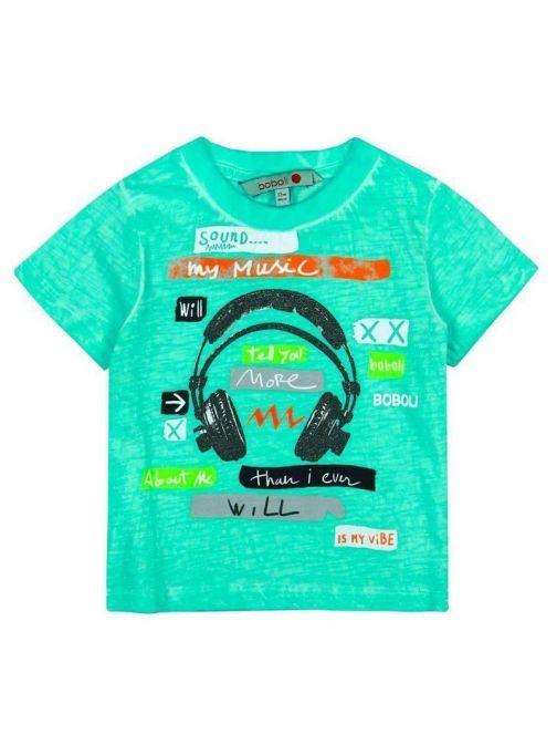 Boboli Aqua Print T-Shirt