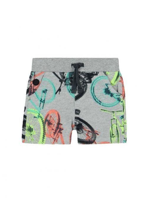 Boboli Grey Bicycle Print Shorts