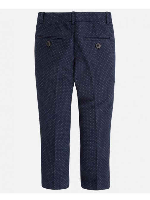 Mayoral Navy Blue Patterned Slim Fit Trousers