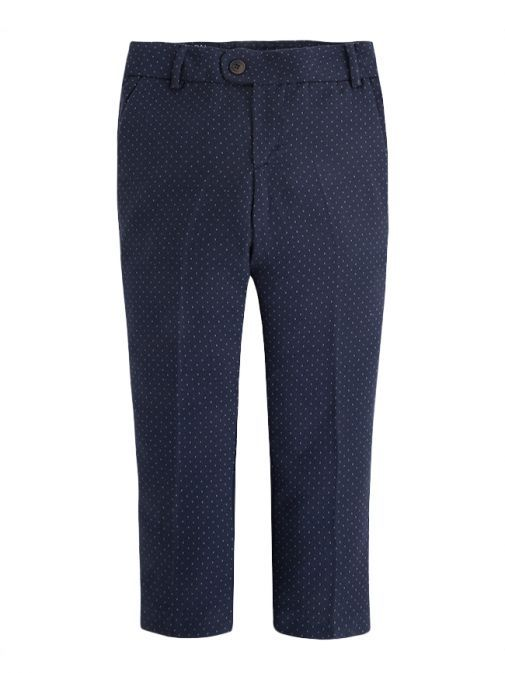Mayoral Navy Blue Patterned Slim Fit Trousers 3501 81