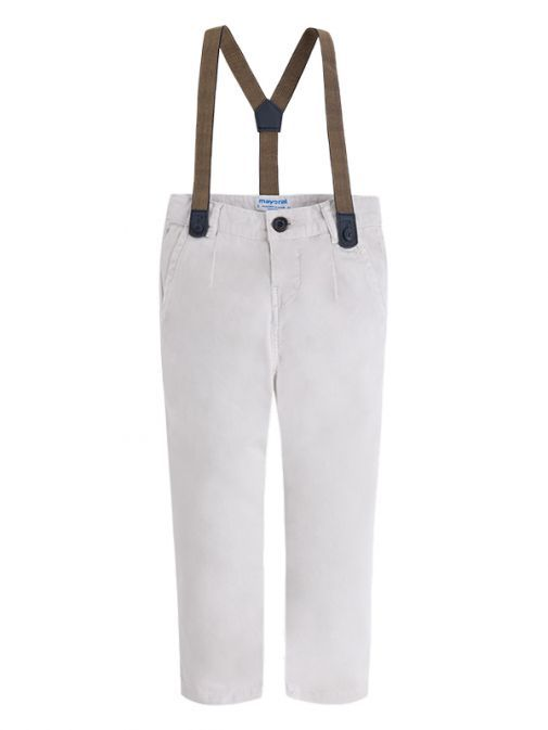 Mayoral Beige Chino Trousers With Braces 3530 61