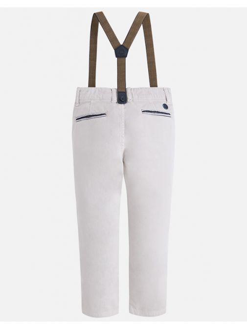 Mayoral Beige Chino Trousers With Braces