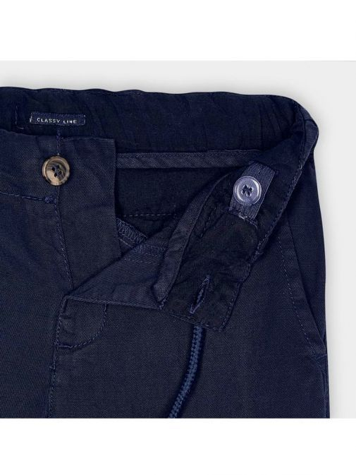 Mayoral Navy Blue Linen Trousers 3564/17-Navy