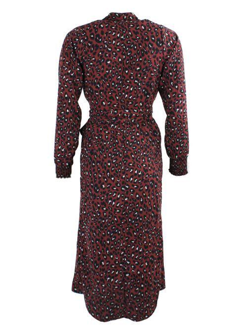 Neon Starfish Burgundy Print Wrap Dress