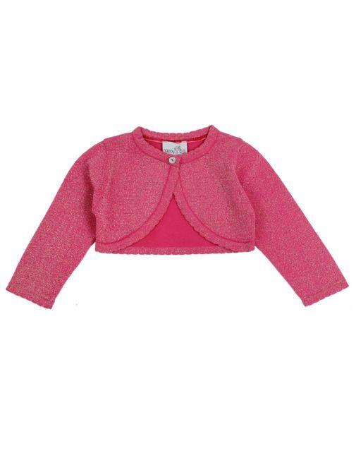 Happy Girls Dark Pink Bolero Cardigan 364102 36 PINK