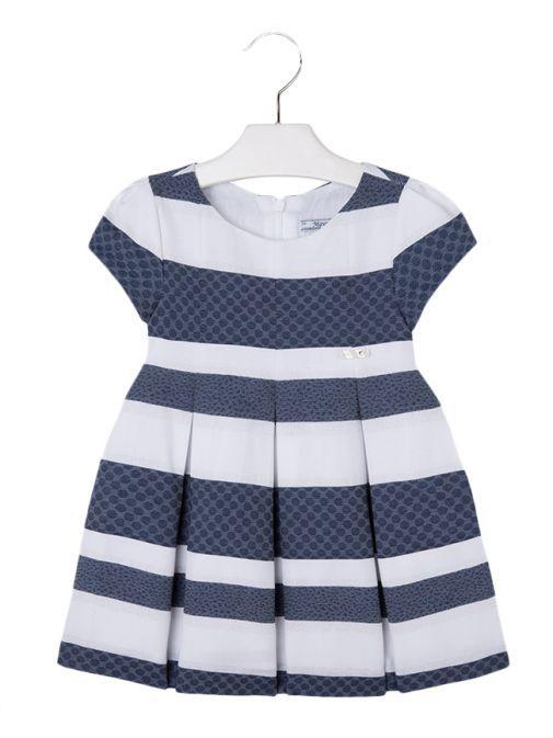 Mayoral Navy Blue & White Striped Dress 3921 62
