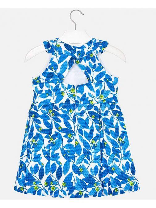 Mayoral White & Blue Floral Dress