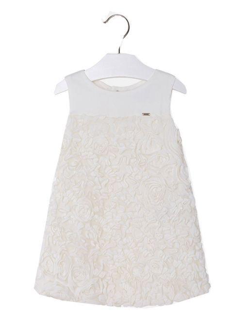 Mayoral Cream Tulle Sleeveless Dress 3924 26