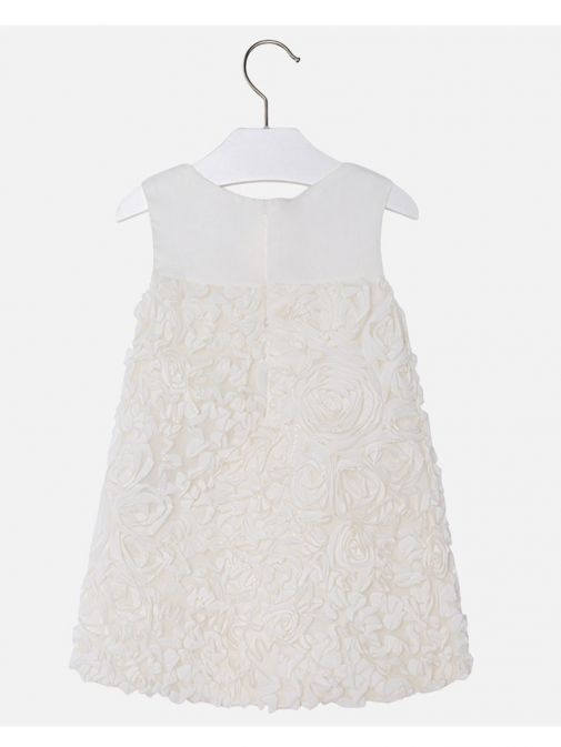 Mayoral Cream Tulle Sleeveless Dress