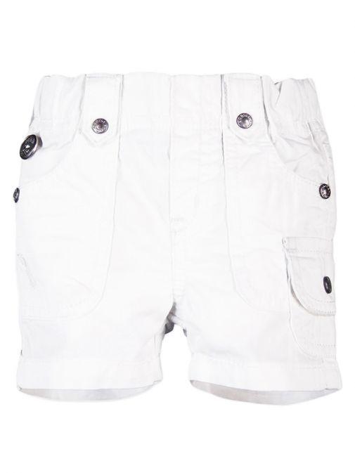 Boboli White Poplin Bermuda Shorts 393094