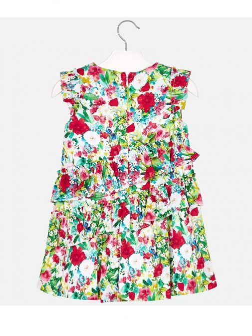 Mayoral Green Ruffled Floral Dress