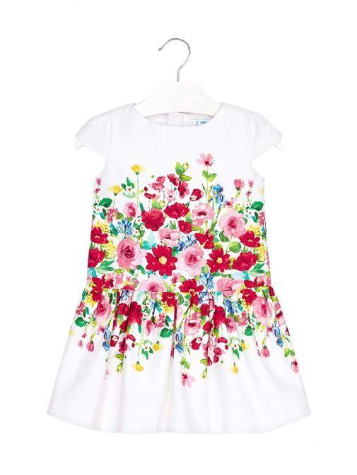Mayoral White Floral Dress 3933 47