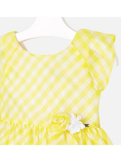 Mayoral Yellow Gingham Dress