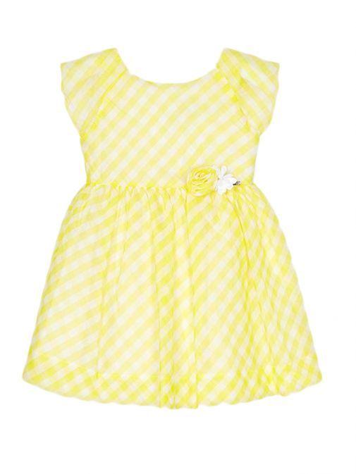 Mayoral Yellow Gingham Dress 3947 74