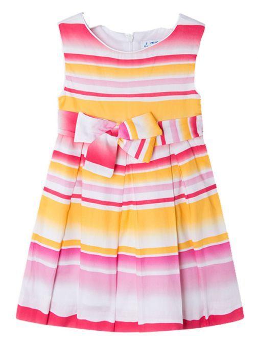 Mayoral Pink Multi Satin Dress 3950 48