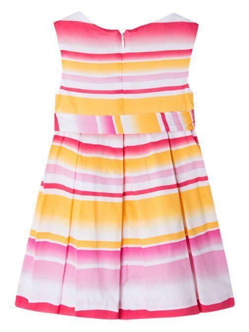 Mayoral Pink Multi Satin Dress