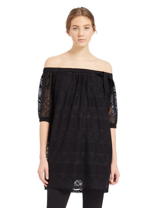 Marella Black Minerva Off-Shoulder Blouse 39711185 001