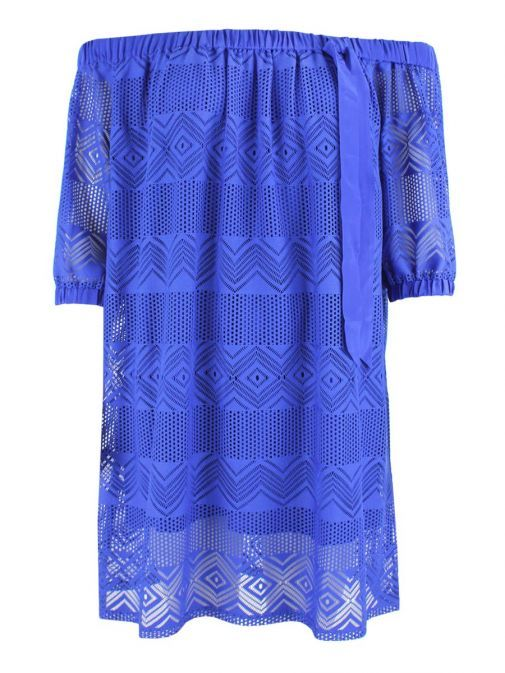Marella Blue Minerva Off-Shoulder Blouse 39711185 003