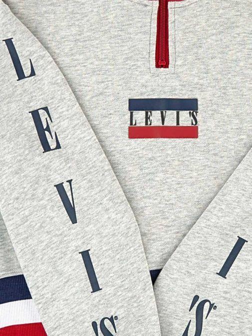 Levis Grey Quarter Zip Sweatshirt 3Ea857/G2h-Grey