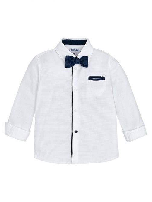 Mayoral White Bow Tie Shirt 4138 94
