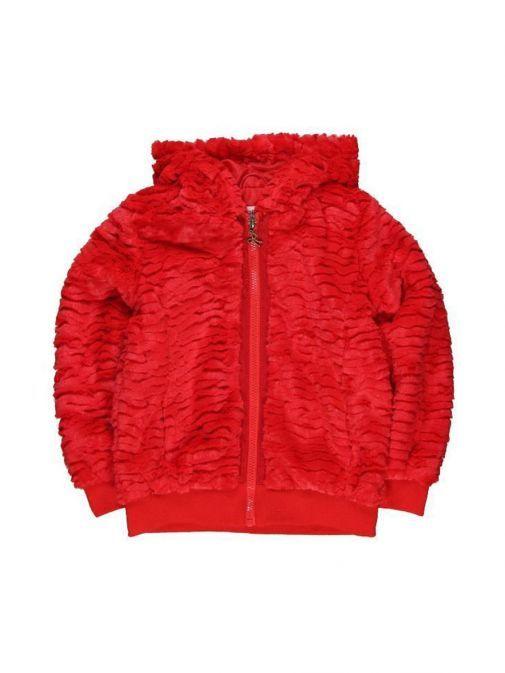 Boboli Red Fleece Zip Up Hoodie 414133 3545