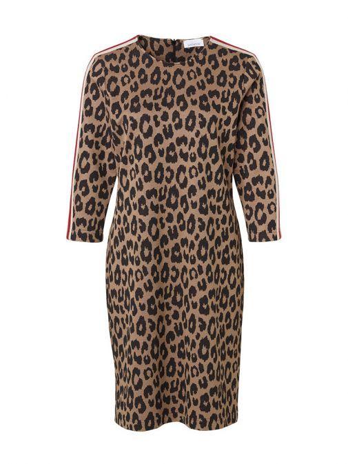 Just White Leopard Print Dress