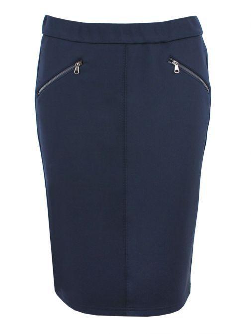 Rabe Navy Zip Detail Pencil Skirt 42-510440 390