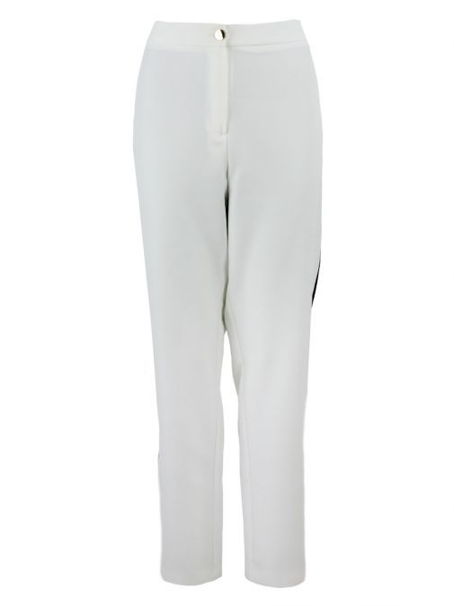 Arggido White Tape Detail Straight Fit Trousers