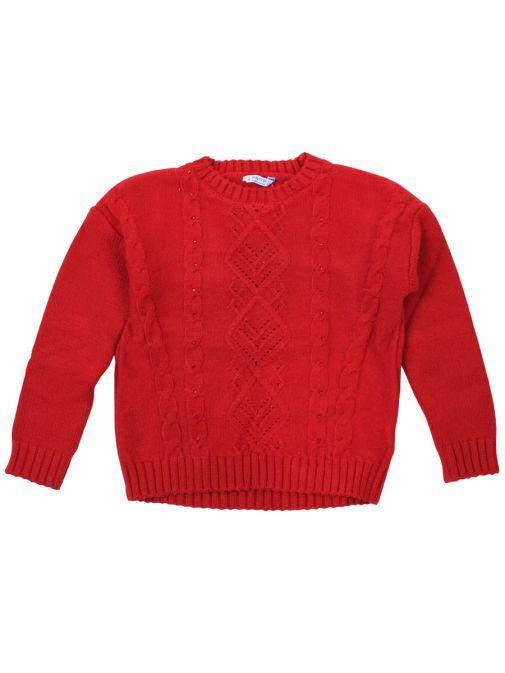Mayoral Rojo Rhinestone Knitted Jumper 4302 10