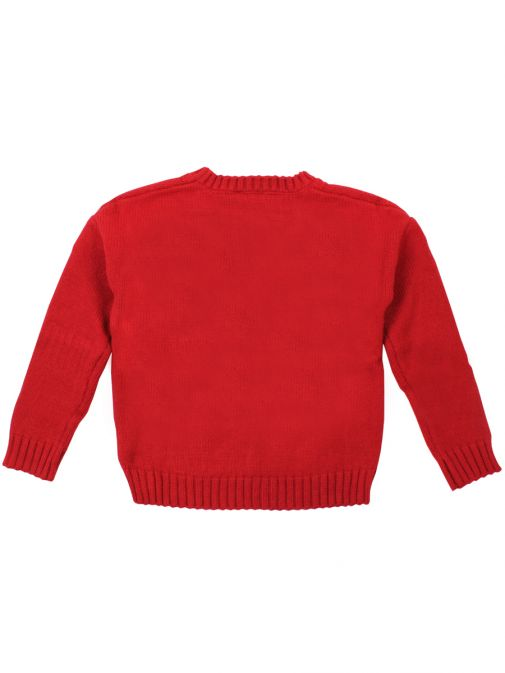Mayoral Rojo Rhinestone Knitted Jumper