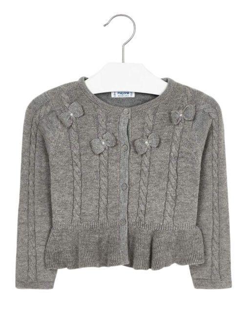 Mayoral Grey Knitted Cardigan 4306 27