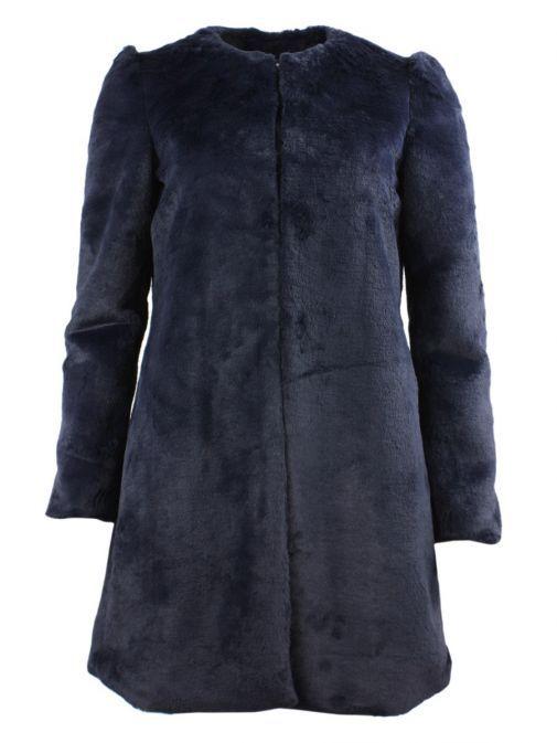 Arggido Navy Faux Fur Coat 43111-marin-navy