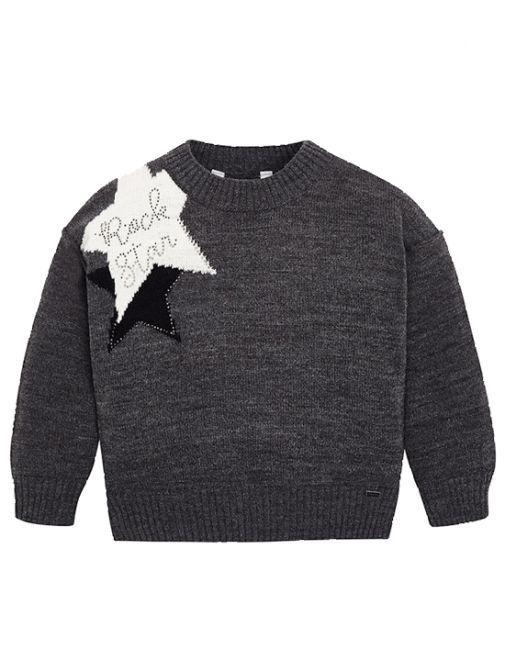 Mayoral Grey Star Intarsia Jumper 4320 57