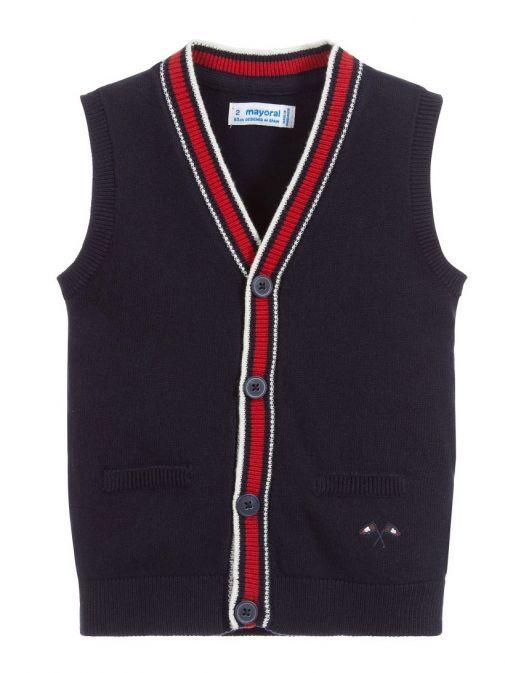 Mayoral Navy Knitted Waistcoat 4320 71