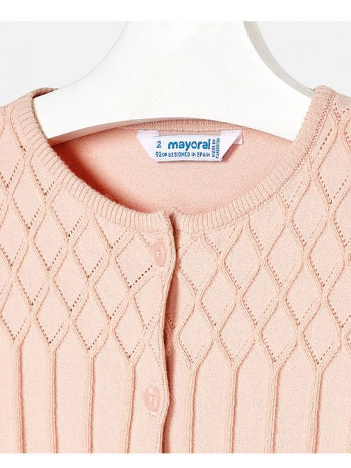 Mayoral Blush Knitted Patterned Cardigan