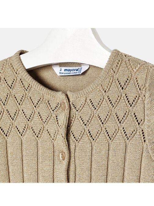 Mayoral Gold Sparkle Knit Cardigan