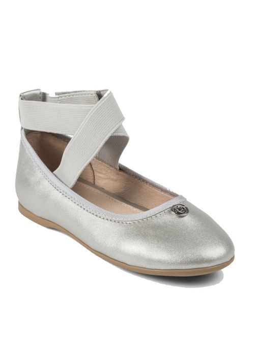 Mayoral Silver Ballet Shoes With Elastic Strap 43865 76
