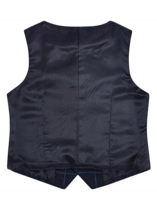 Mayoral Navy Check Waistcoat