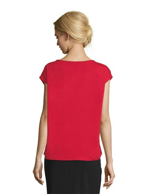 Betty Barclay Red Scarlet Satin T-Shirt