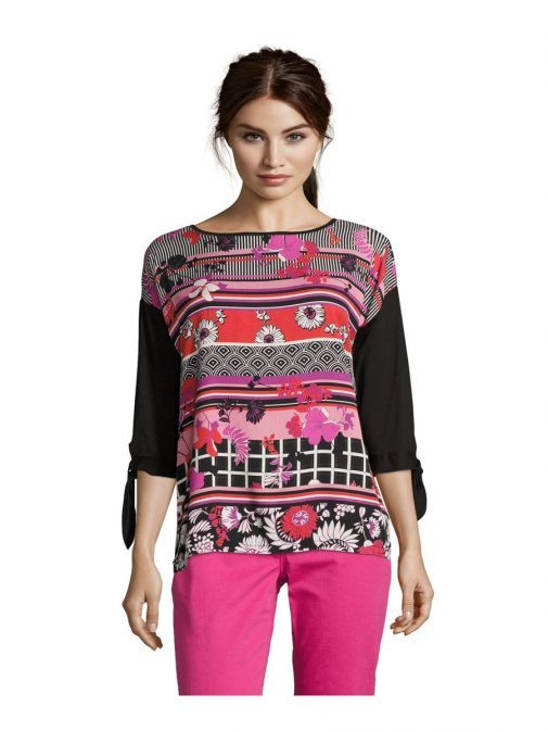 Betty Barclay Black Multi Patterned Top
