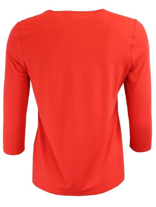 Betty Barclay Red Ruffled Top