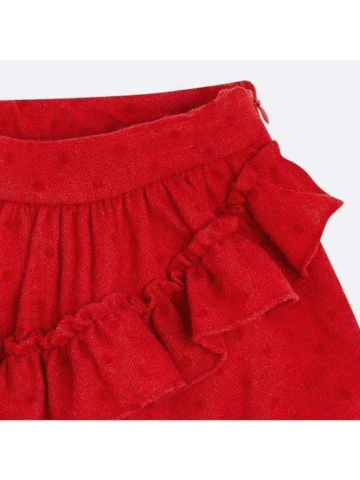 Mayoral Red Polka-Dot Skirt