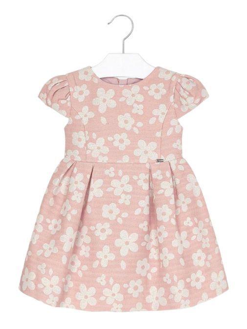 Mayoral Pink Floral Jacquard Dress 4916 15