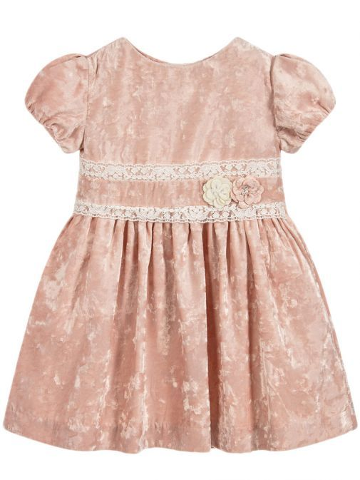 Mayoral Nude Velvet Dress 4938 23