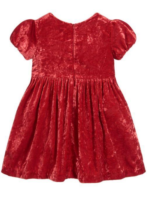 Mayoral Red Velvet Dress