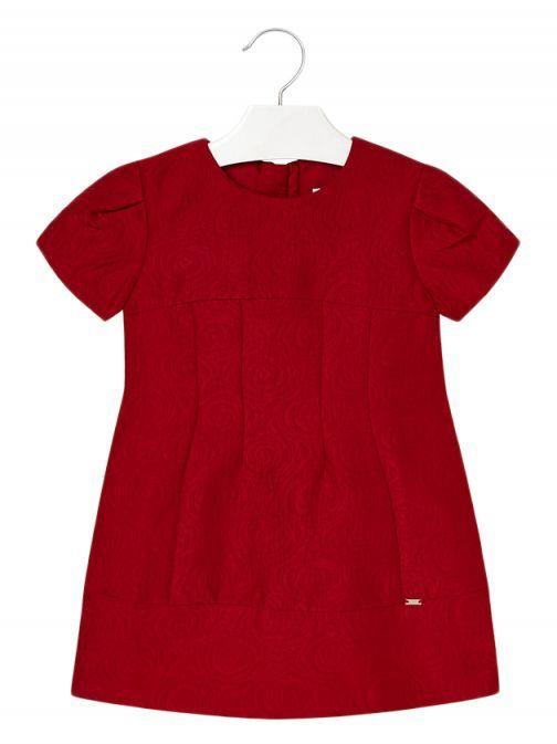Mayoral Red Jacquard Dress 4944 58